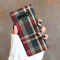 Plaid Design Hard Cases For Samsung Galaxy