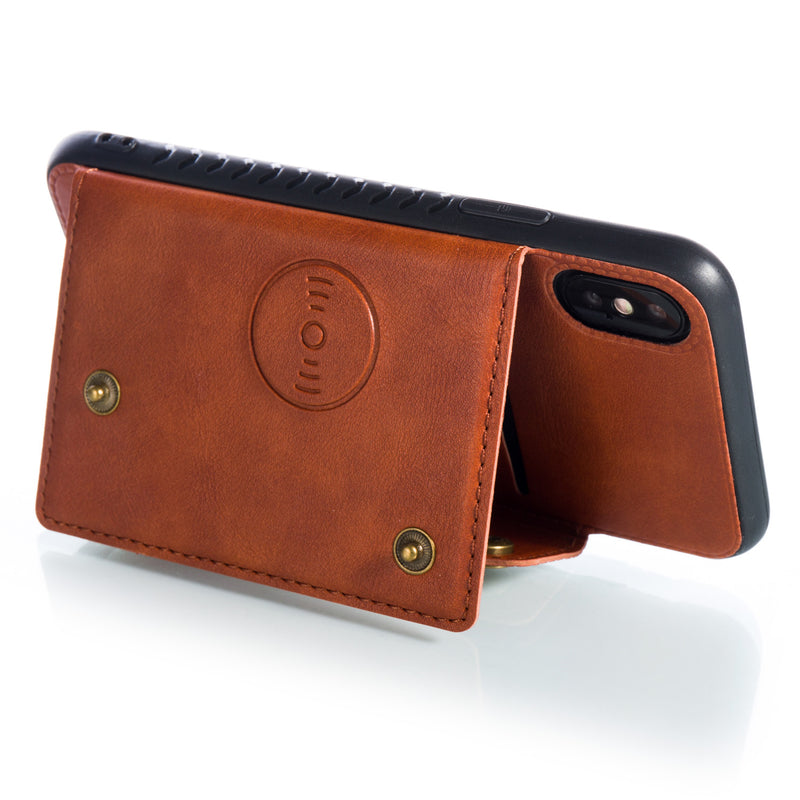 Vintage Leather iPhone Case With Card Holders