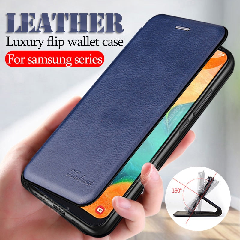 Samsung Galaxy Leather Flip Case