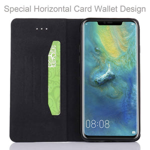 Carbon Fiber Wallet Case For Huawei