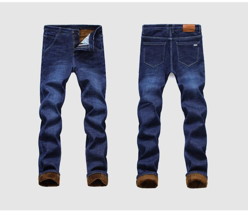 Men's Straight Leg Winter Jeans