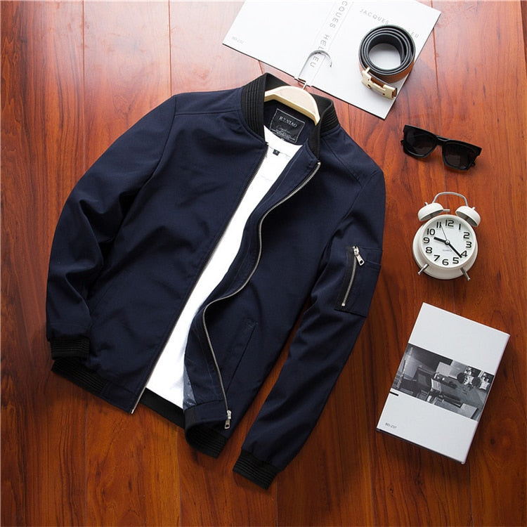 Men's Casual Bomber Zipper Jacket