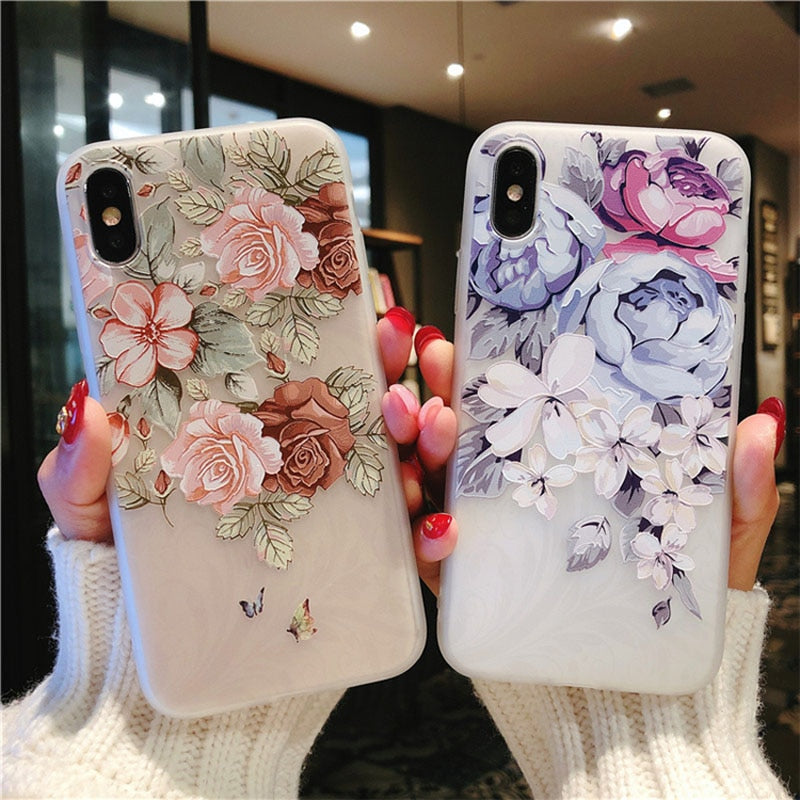 Luxury 3D Silicone Case For iPhones