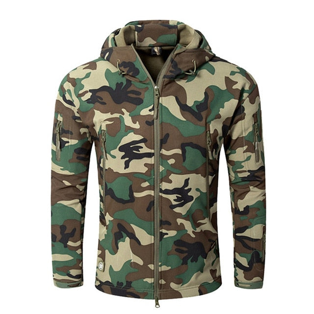 Men's Waterproof Tactical Camouflage Windbreaker