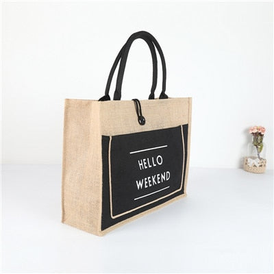 Women's Linen Luxury Hand Bag