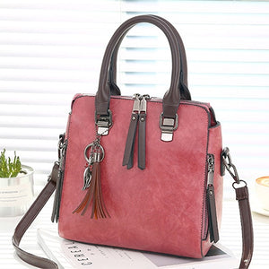 Women's Vintage PU Leather Shoulder Bag