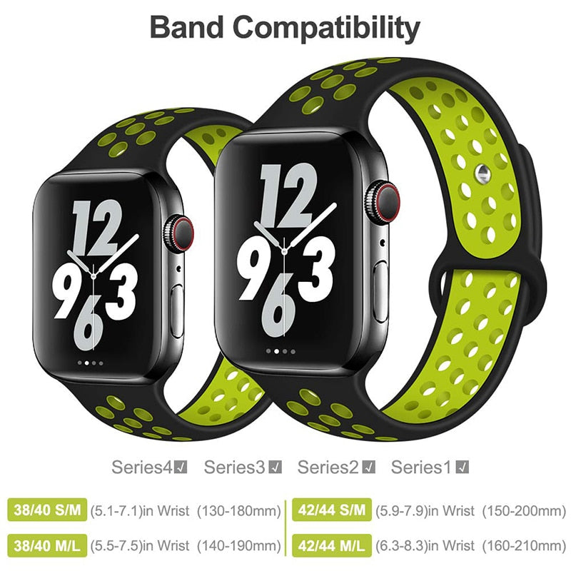 Apple Watch Breathable Silicone Sports Band