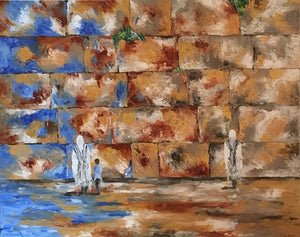 "Tefillah      48""x60"" - Devora's Paintings, Painting - Jewish Art Prints, Devora Rhodes - Devora Davidowitz Rhodes, Devora Rhodes Collection - World of Color Studios"