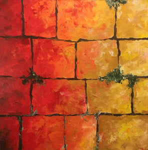 Kotel Stones - Devora's Paintings, Painting - Jewish Art Prints, Devora Rhodes - Devora Davidowitz Rhodes, Devora Rhodes Collection - World of Color Studios