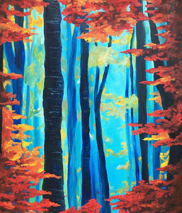 Foggy Trees - Devora's Paintings,  - Jewish Art Prints, Devora Rhodes - Devora Davidowitz Rhodes, Devora Rhodes Collection - World of Color Studios