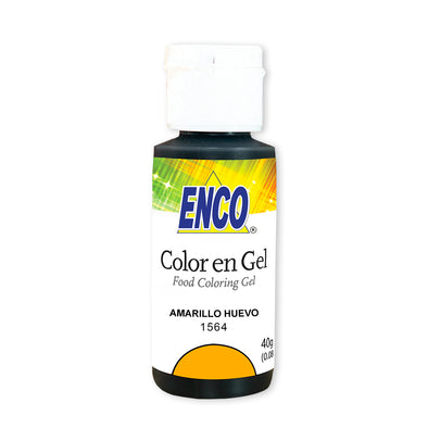 color en gel amarillo huevo - enco