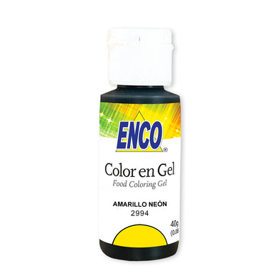 color en gel amarillo neon - enco