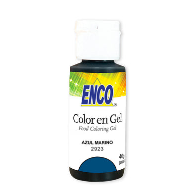 color en gel azul marino - enco