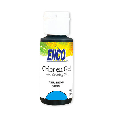 color en gel azul neon - enco