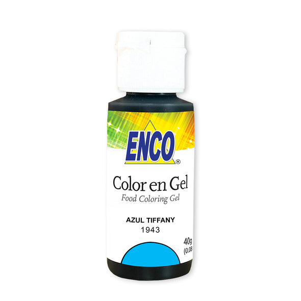 color en gel azul tiffany - enco