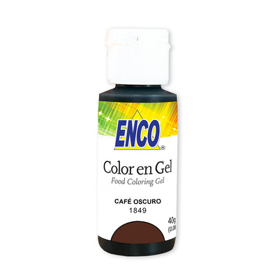 Color en gel Cafe oscuro - Enco