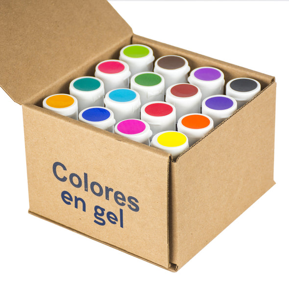 Kit 16 Colores en Gel 40g