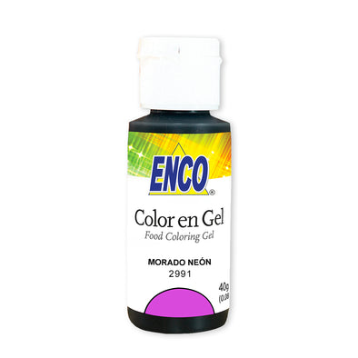 color en gel morado neon - enco