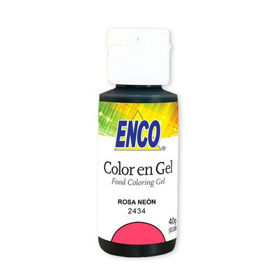 Color en gel rosa neon - enco