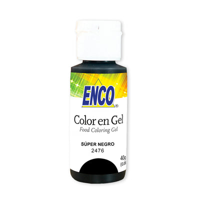 Color en gel super negro - Enco