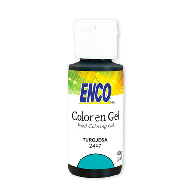 Turquesa Color en gel - Enco