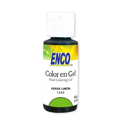Color en gel verde limon - enco