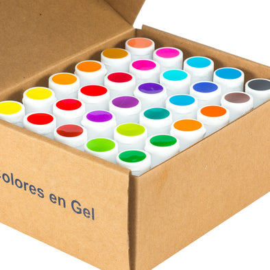 #1 Kit - 30 Colores en Gel 40g
