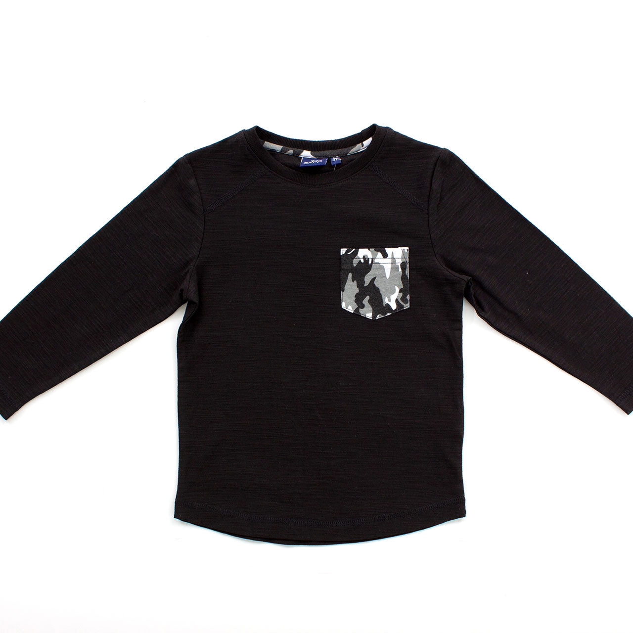 Black Camo Pocket Long-Sleeve