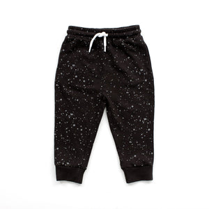 Black Splatter Joggers