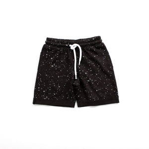 Black Splatter Jogger Shorts