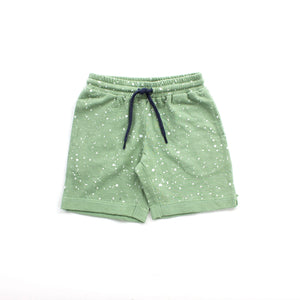Green Splatter Jogger Shorts