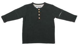 Kids Forest Green Henley