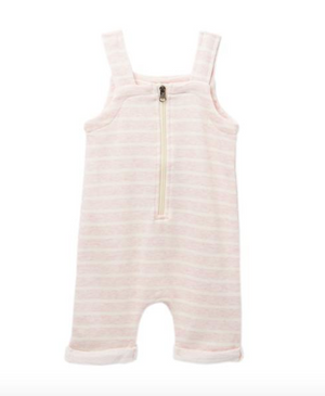 Baby Pink Stripe Overalls