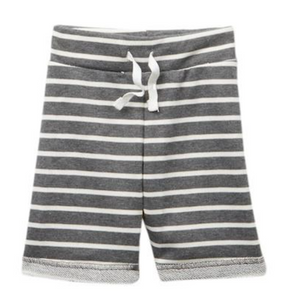 Grey and White Stripe Short