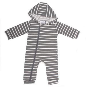 Baby Grey Stripe Cuddlesuit