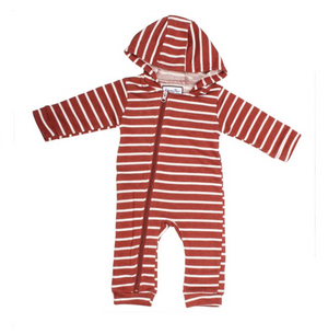 Baby Clay Stripe Cuddlesuit