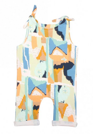 Girls Painting Tie Romper