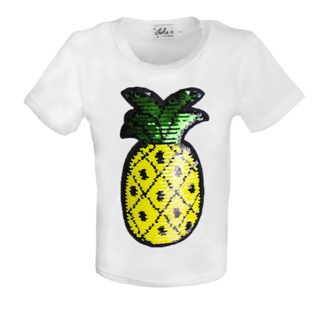 Pineapple Flip Sequin Tee