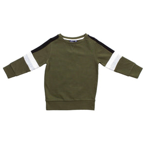 Army Green Stripe Crew