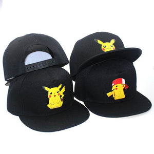 2019 New Cartoon Anime Pokemon Pikachu Logo Printing Baseball Caps Hip-Hop Cap For Men Women Unisex Summer Sun Hats Adjustable