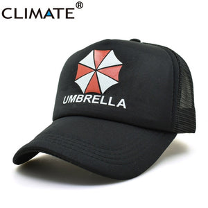 CLIMATE Umbrella Corporation Cap Summer Cool Black Trucker Cap Summer Cool Baseball Caps Hats Adjustable for Men Women