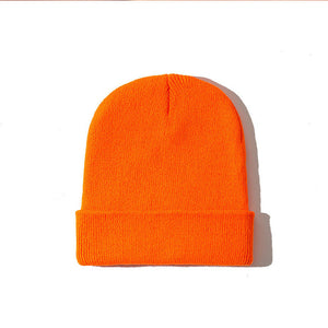 2019 Winter Hats for Woman New Beanies Knitted Fluorescent Hat Girls Autumn Female Beanie Caps Warmer Bonnet Ladies Casual Cap