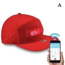 Load image into Gallery viewer, Hip Hop Hats Men Women Bluetooth LED Hat Programmable Credit Roll Message Display Board Baseball Party Golf Cap Gift