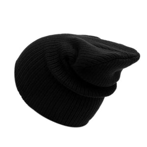 Autumn Winter New Soft Knitted Hat Women Cap Women's Cotton Skullies & Beanies Plain Cornice Hats Female Solid Bonnet