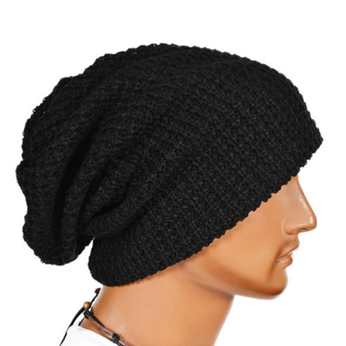 Men Women Winter Warm Knited Beanies Skull Hat Bandana Slouchy Oversized Cap Sport Hat Unisex Bonnet