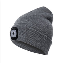 Load image into Gallery viewer, New Unisex Men Women LED Beanie Knit Ski Cap Hip-Hop Blank Color Winter Warm Hat