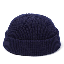 Load image into Gallery viewer, Winter Knit Mens Hat Skullcap Men Beanie Hat Winter Short Brimless Baggy Melon Cap Docker Fisherman Knitted Hat Women