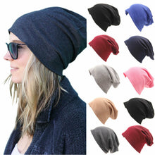 Load image into Gallery viewer, Unisex Men Women Solid Beanies Hat Hip Hop Knitted Wool Autumn Winter Warm Ski Skull Casual Streetwear Cuff Cap Hat 8 Colors NEW