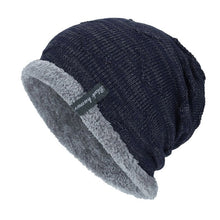 Load image into Gallery viewer, Boys Men Winter Hat Knit Cap Warm Beanie Bonnet Hat Fleece dad cap Wool Hat Knitting gorros hombre invierno #YL5