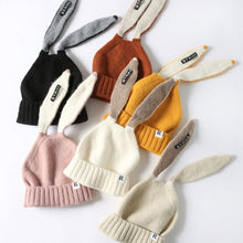 Load image into Gallery viewer, 2019 Kids Girl&Boy Baby Winter Warm Knitted Cute Rabbit Long Ear Beanie Hat 2019 Autumn Hats Cap